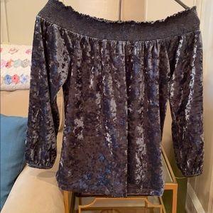 Lucky Brand NWT crushed velvet small blouse